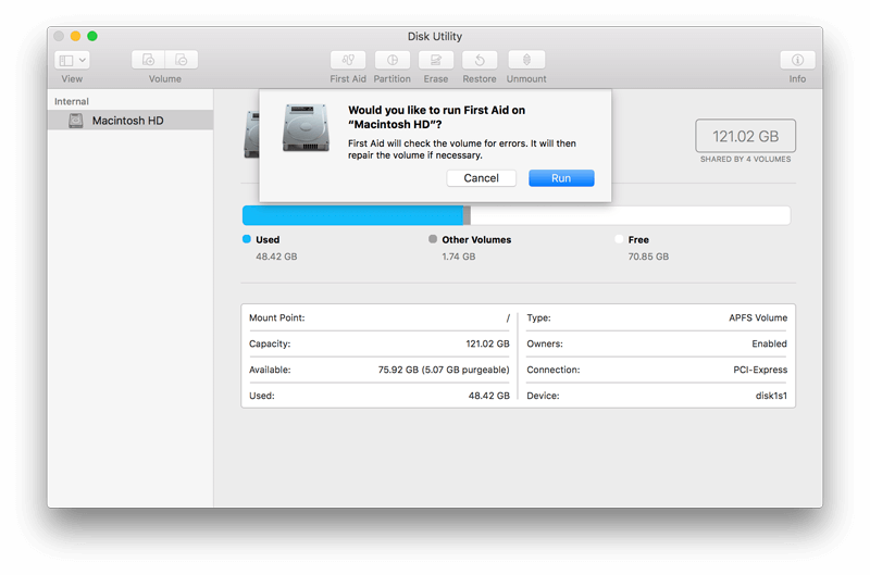 use disk utility