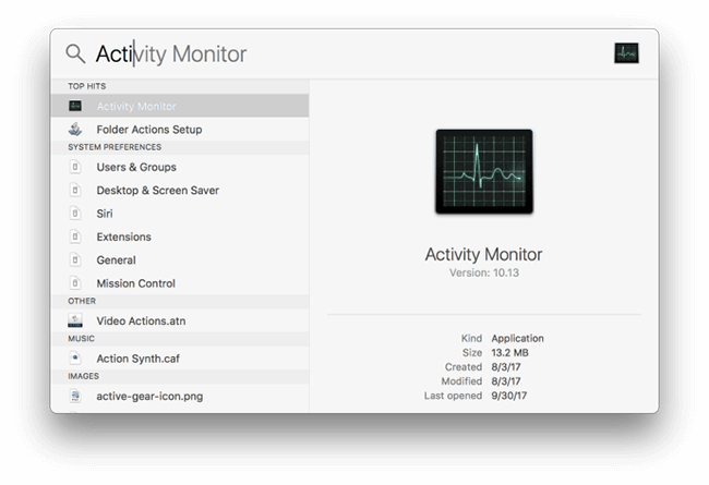 Spotlight Activity Monitor