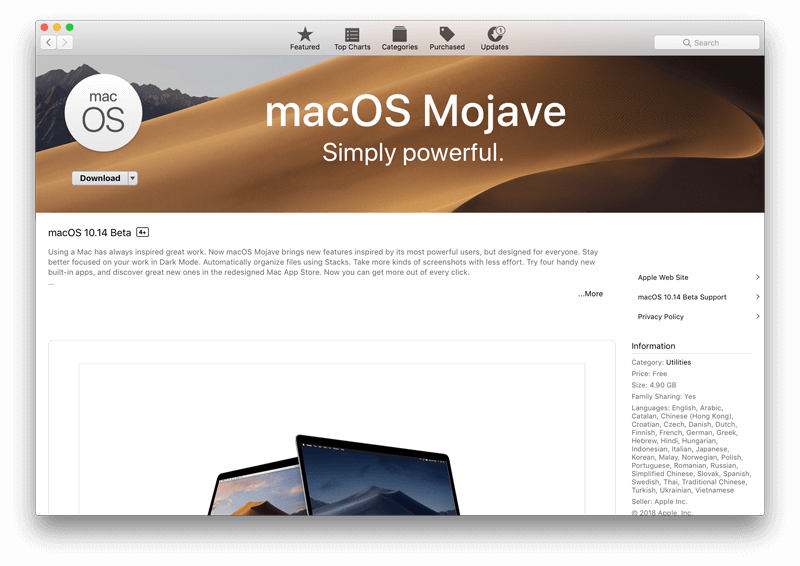 MacOS Mojave 10 14 Features List Unveiled | MacFly Pro