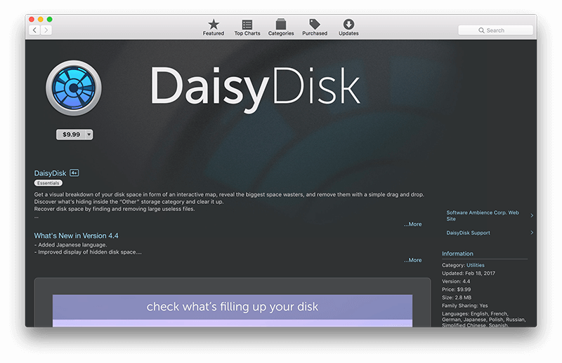 daisydisk price appstore