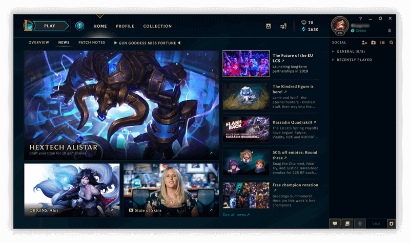 league of legends mac client